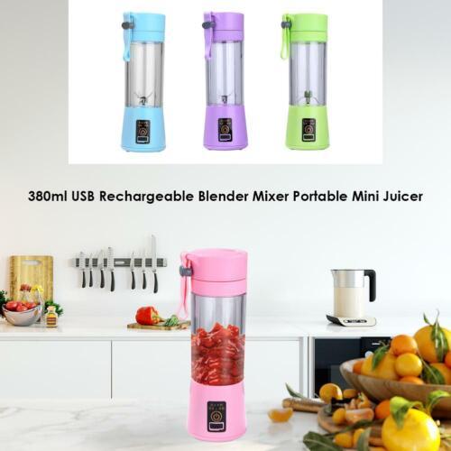 380ml USB Rechargeable Blender Mixer Portable Mini Juicer Juice Machine NIGH