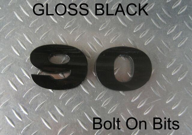 collectivedata.com RDX Raised 3D Lettering Badge Decal Logo BLACK ...