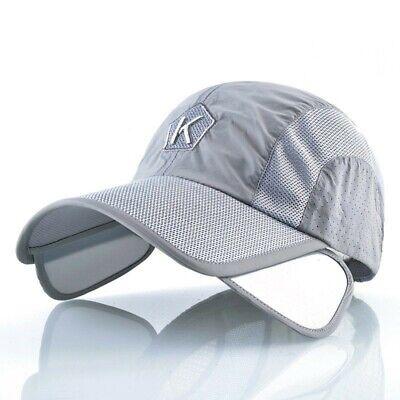 Summer Baseball Cap Men Women Retractable Visor K Embroidery Snapback Mesh  Hat | eBay