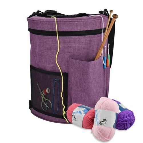 Yarn Storage Bag DIY Knitting Crochet Tool Tote Organizer Holder Portable Cases