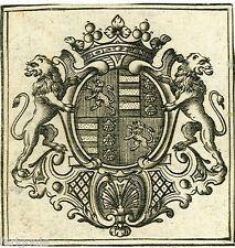 EX-LIBRIS de Jacques-François de JOHANNE DE LA CARRE, marquis de Saumery.