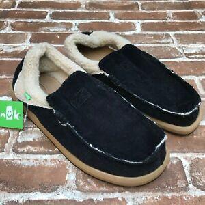 Black Corduroy Fur Lined Slip