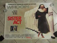 Sister Act Movie Poster - Whoopi Goldberg Poster - Original Uk Quad