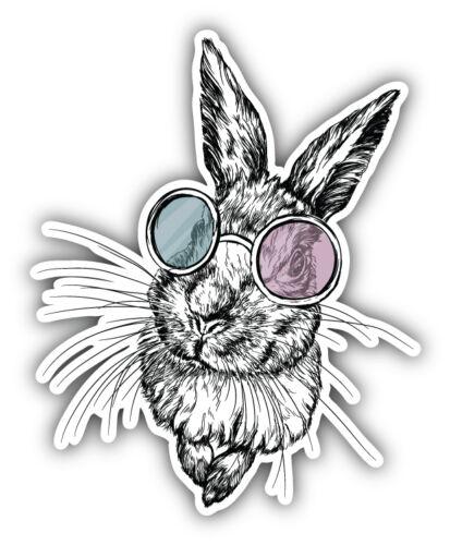 Funny Rabbit Sketch Car Bumper Sticker Decal 4/'/' x 5/'/'