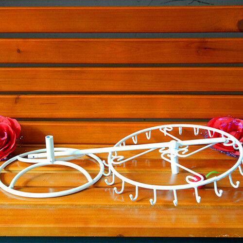 Necklace Display Stand Brackelet Hanging Spinner Rack 24 Hooks Bracelets Chains