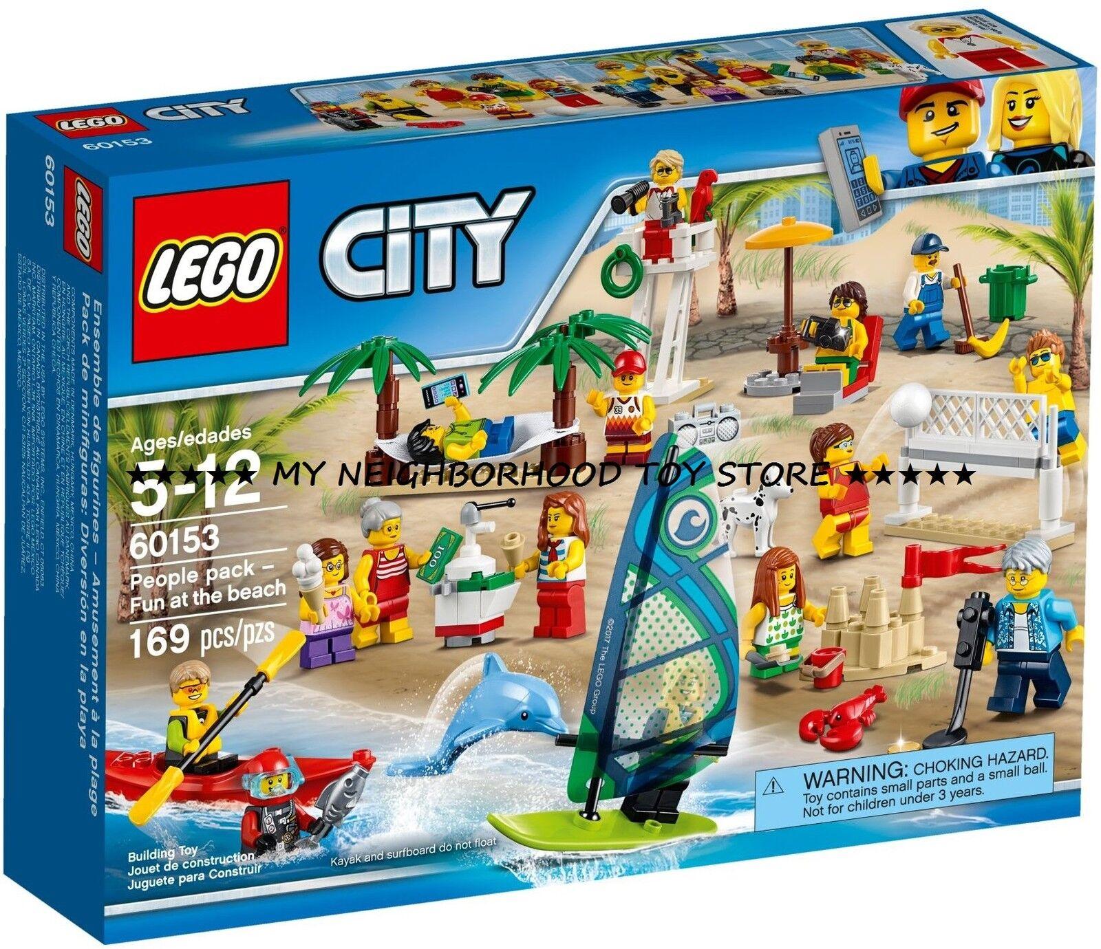 PRON. CONS. - LEGO 60153 CITY DIgreenIMENTO IN SPIAGGIA FUN AT THE BEACH - NOVITÀ