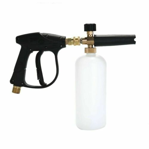"1//4/"" Snow Foam Washer Gun Car Wash Soap Lance Cannon Spray Pressure Jet Bottle"