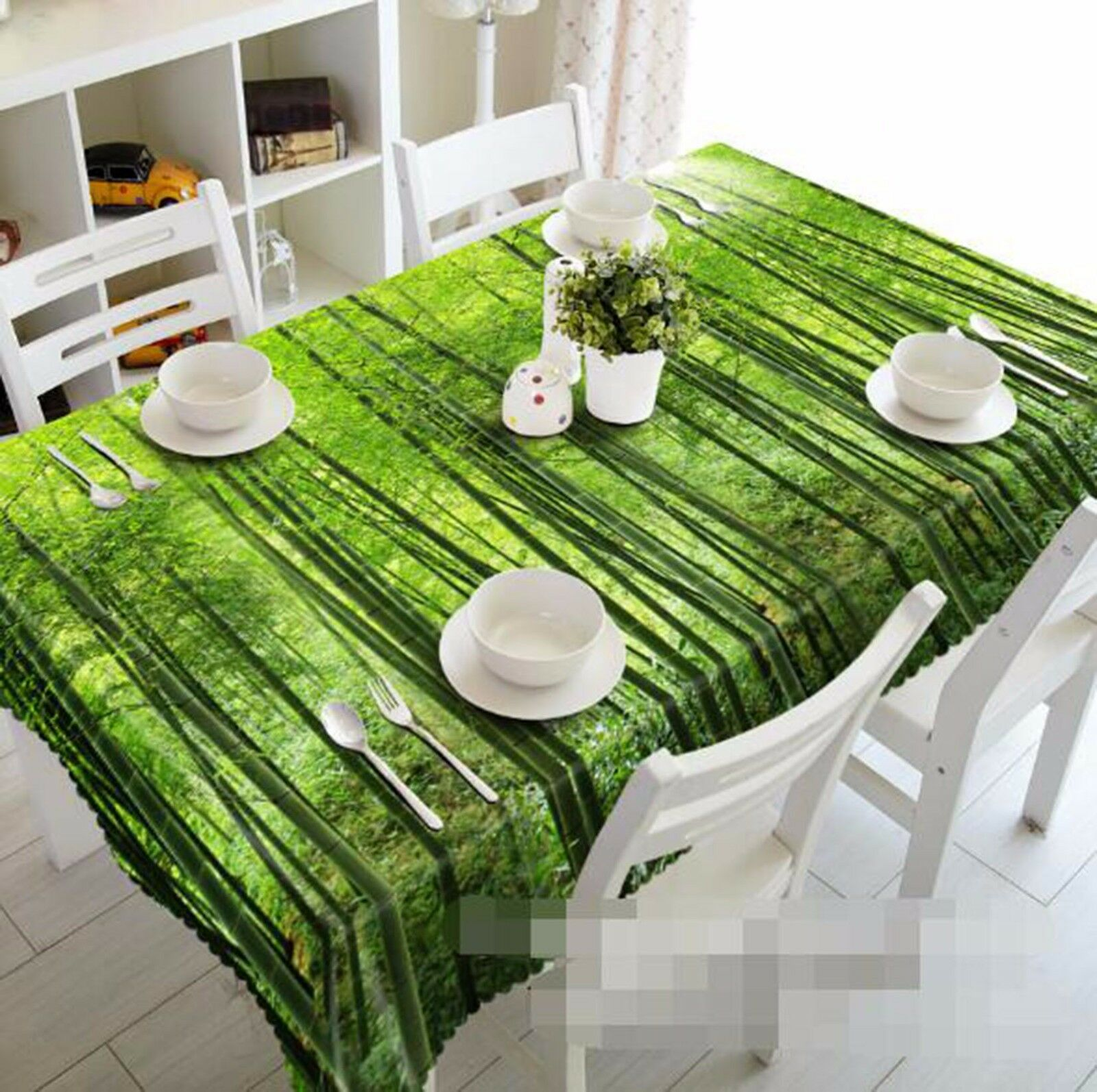 3D Bamboo 415 Nappe Table Cover Cloth fête d'anniversaire AJ papier peint Royaume-Uni Citron