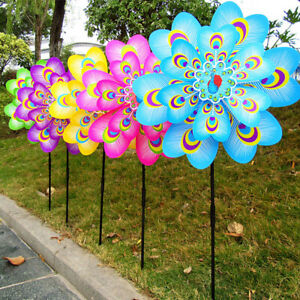 Colorful-Cartoon-Peacock-Windmill-Wind-Spinner-Home-Garden-Yard-Decor-Toy-Random