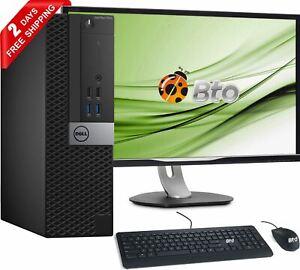 """Dell Computer 7040 Desktop Core i5 6th 8GB, 2TB New 20""""LCD WiFi Win10 Pro SFF PC"""
