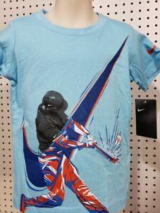 Boys Kids Youth Under Armour T-Shirt NEW Blue Baseball short sleeve Size 3T