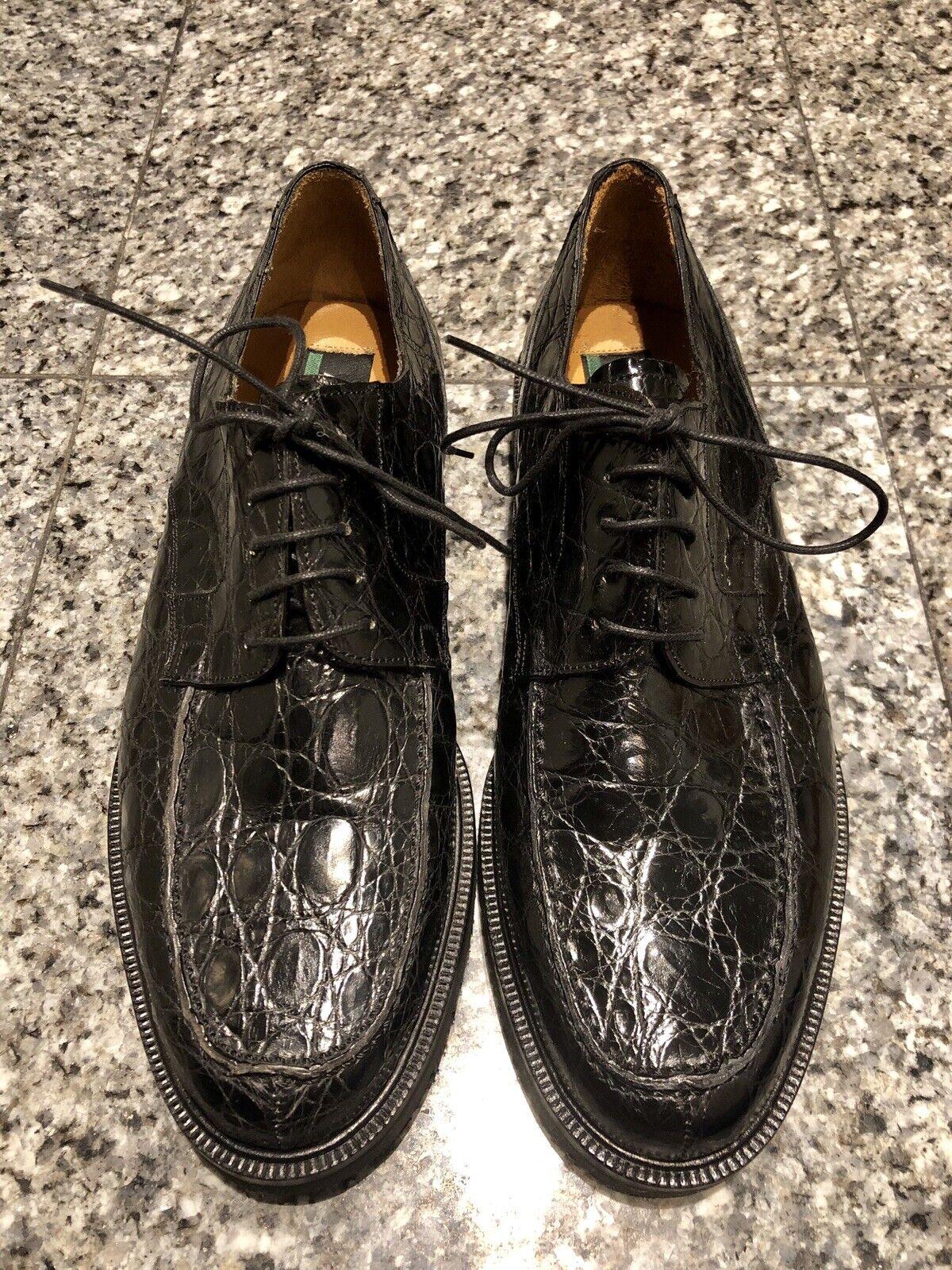 AVVENTURA nero Crocodile Men's Oxford scarpe
