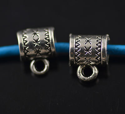 50pcs Bails Connector Holder Clasp Fit 4mm European For Pendant Jewelry Makings