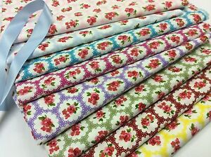 100-Cotton-Poplin-Fabric-Pretty-Floral