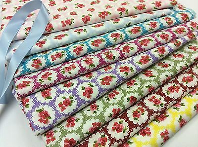 100% Cotton Poplin Fabric - Pretty Floral
