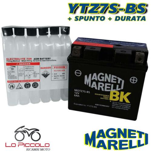 BATTERIA MAGNETI MARELLI YTZ7S-BS SIGILLATA YAMAHA XVS Drag Star 125 2000 2001