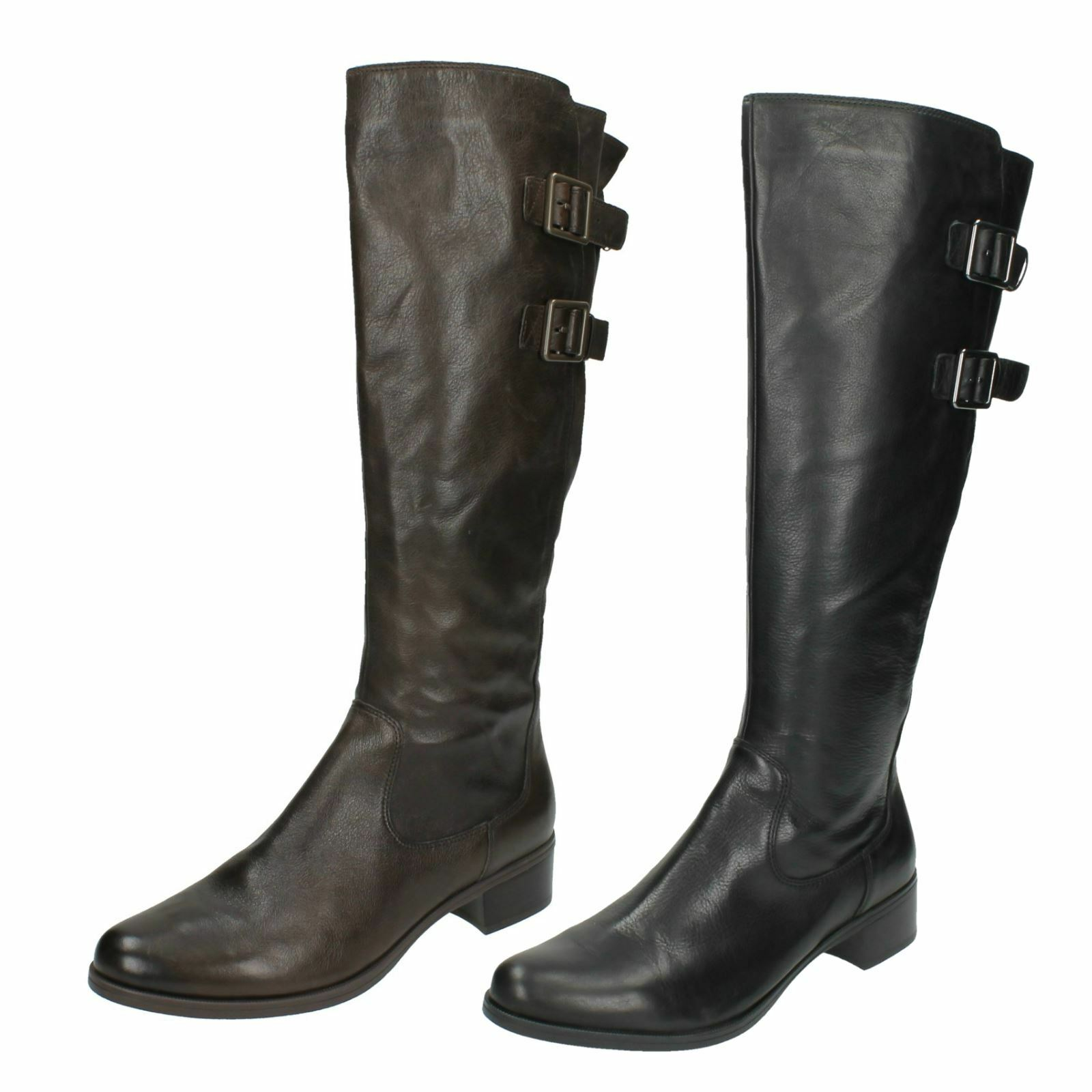 Ladies Clarks Leather Knee High Boots Likeable Me