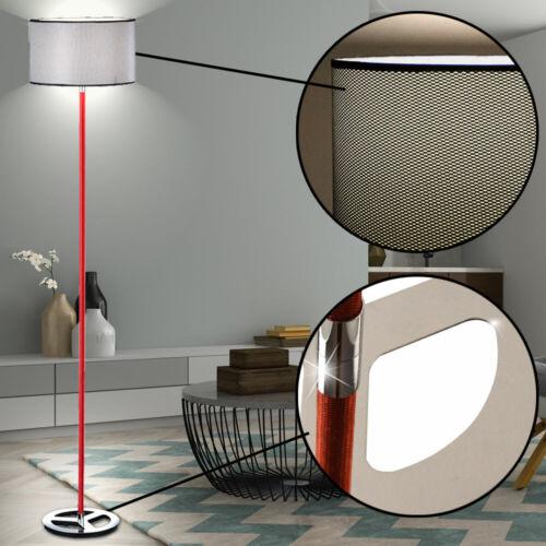 Retro Steh Leuchte Stoff Schlaf Zimmer Lampe H 150 cm Decken Fluter Big Light