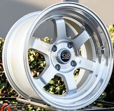 ROTA GRID V 16X8 +20 4X100 SILVER WHEELS FIT JDM INTEGRA CIVIC YARIS MIATA RIO