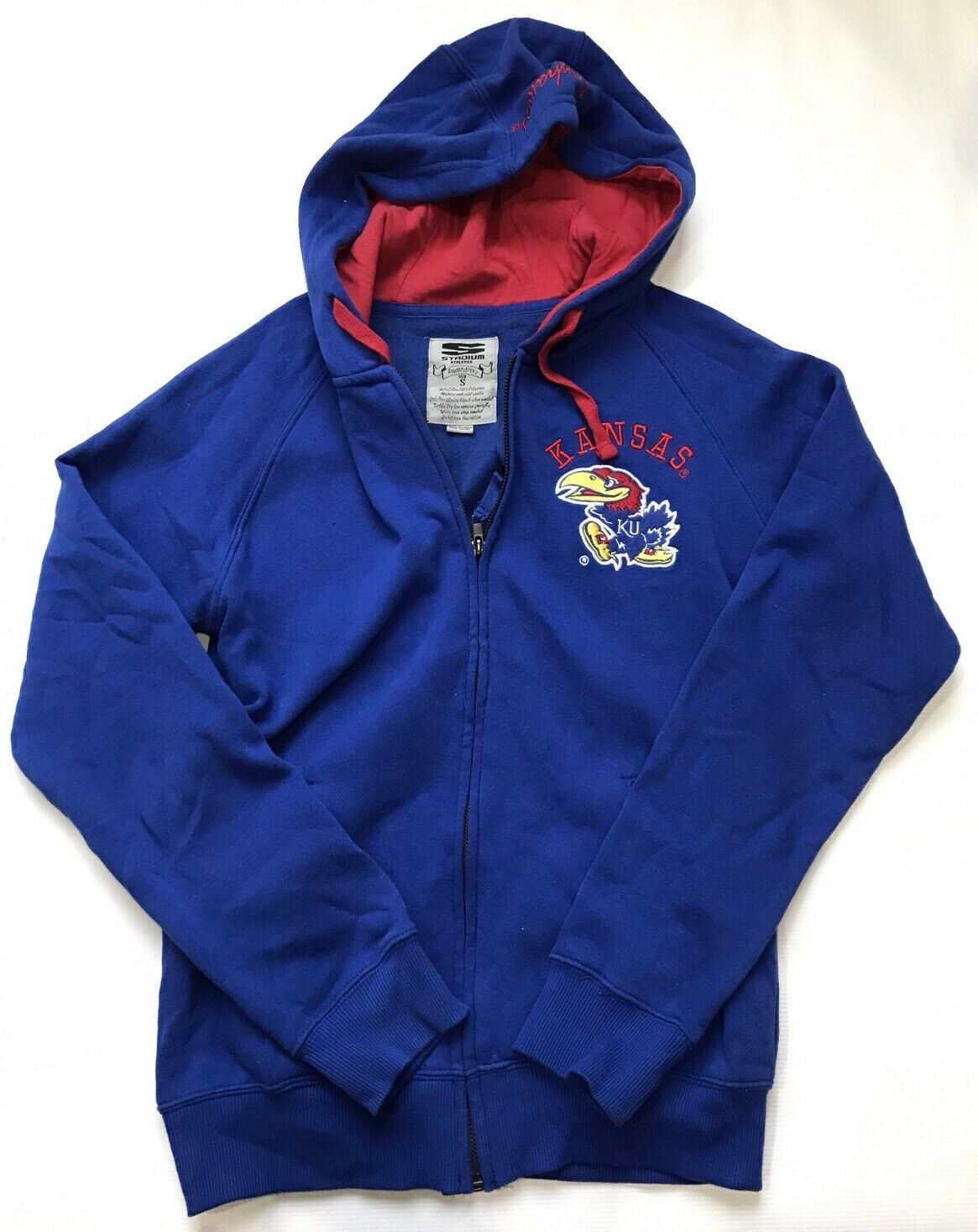 University of Kansas JAYHAWKS Stadium Athletics Women's Hoodie Small EUC KU