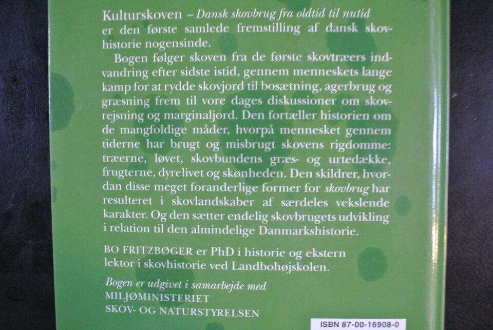 kulturskoven - dansk skovbrug fra oldtid til nutid, bo