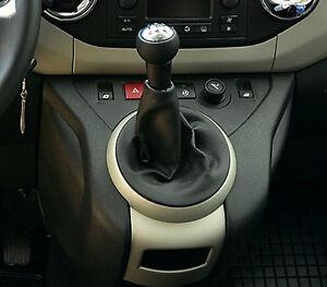 Genuine-BLACK-Leather-Shift-Boot-Gear-Cover-Gaiter-fit-CITROEN-BERLINGO-II-MK2