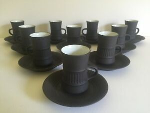 Mid Century Dansk Designs Denmark Flamestone Expresso Cup and Saucer