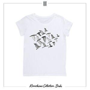 Details about Men's T shirt designers print birds illustration L