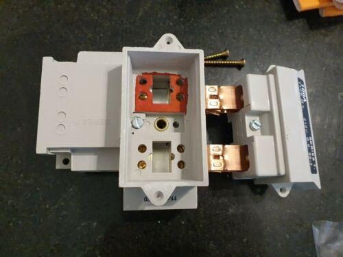 7 Henley Casa Serv Corte SERIES hacia fuera portador de fusible base 100AMP C//W y C//Caja De Fusible