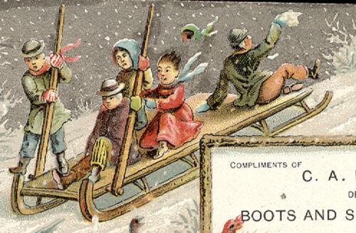 épicerie commerce Merrifield chaussures Carte Ny Morgan bottes C A de 1880's C476 etc et Pwtqd4t