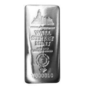 1 Kilo .999 Silver Bar Wall Street Mint Silver Bullion w/ Serial Number #A512