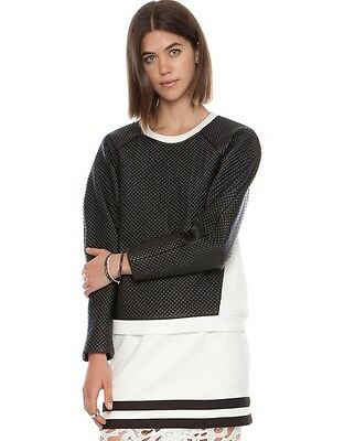 NWT Cameo The Better Pullover Leather Like Sweater Jumper Anthropologie SzS $160