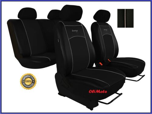 Universal Black Eco-Leather Full Set Car Seat Covers fit Audi A2 A3
