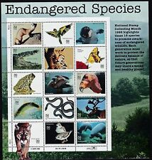 US Stamps #3105a-o - 1996 -  Endangered Species - MNH   - B6712