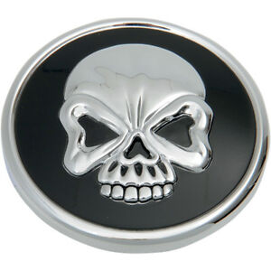 Noir Bouchon Carburant Chrome Réservoir Harley Skull Crâne De BeWCodxr