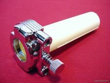 """CHROME 1"""" THROTTLE GRIP ASSEMBLY  DUAL CABLE FOR HARLEY 81 UP HANDLEBARS NEW"""