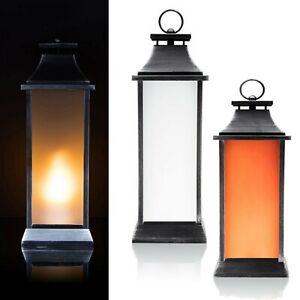 Outdoor Laterne Mit Led Flammen Beleuchtung Timer 50 Cm Flammeneffekt Led Kerze Ebay