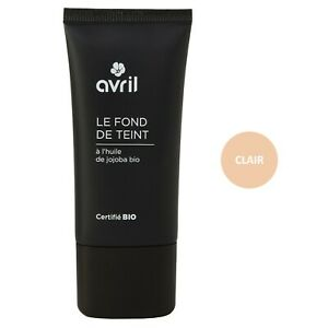 Fond-de-teint-Clair-30ml-Certifie-Bio-Vegan-100-Naturel-Cosmetique-AVRIL