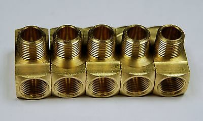 "Brass Fittings: Branch Tee Extruded, Female Pipe 3/8"", Male Pipe 3/8"", QTY. 1"