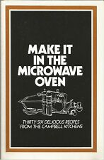 Make It In The Microwave Oven Campbell Kitchens PB