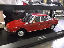 NSU AUTO UNION AUDI ro80 RO 80 Wankel BERLINA 1972 ROSSO RED Minichamps 1:18