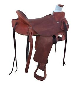 "15"" WADE LIGHTWEIGHT RANCH ROPING COWBOY SADDLE, WEIGHS LESS THAN 25 LBS"