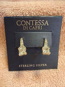 3fa7d44dd Image is loading Contessa-Di-Capri-Sterling-Silver-Earrings