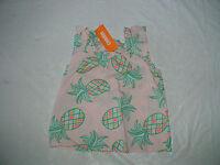 Gymboree Island Cruise Girls Pink Pineapple Top Shirt Summer
