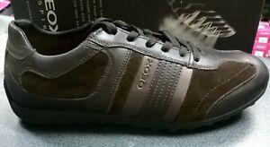 GEOX U TRIS L SUPER OFFERTA SUEDE SMOOTH Lea Col.Coffe Scarpe Uomo Man Sneakers