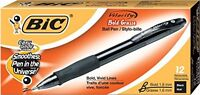 Bic Velocity Bold Ball Pen, 1.6mm, Black, 12ct (vlgb11blk), New, Free Shipping