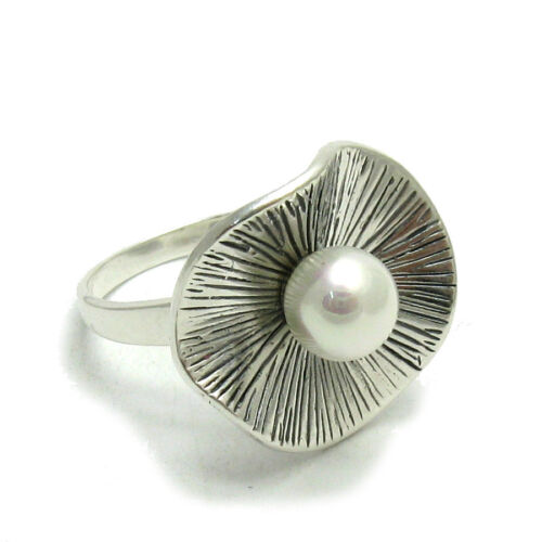R001447 STERLING SILVER RING SOLID 925 WITH 8MM PEARL