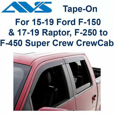 AVS for 15-18 Ford for F-150 Standard Cab Ventvisor In-Channel Window Deflectors