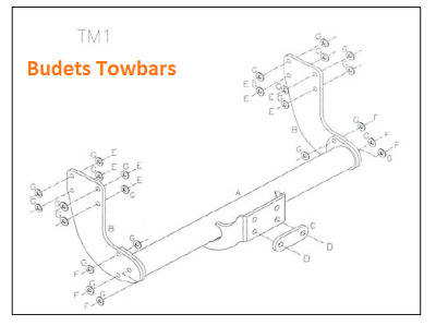 VW Crafter Towbar Tow Trust Flange Towing Hitch Draw Bar No Step - 2006-2016
