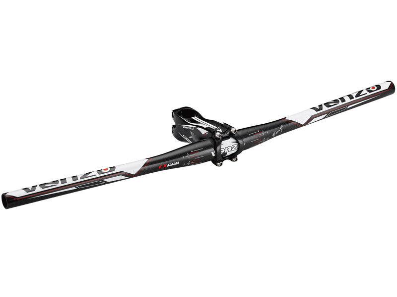 Venzo 31.8X660 CX660 Manillar plano de carbono